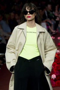 MELBOURNE, AUSTRALIA - MARCH 10: A model walks the runway in a design by Balenciaga during the Gala ... [+] WIREIMAGE
