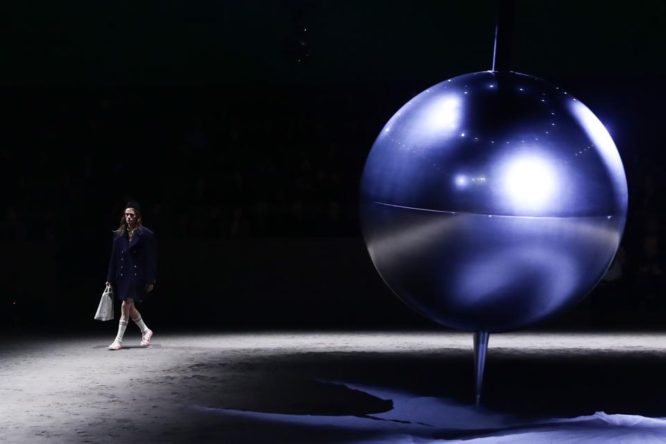 MILAN, ITALY - JANUARY 14: A model walks the runway at the Gucci fashion show on January 14, 2020 in ... [+] GETTY IMAGES